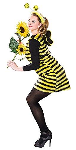 Karneval Damen Kostüm Biene Kleid als Bienenkostüm Größe 36/38