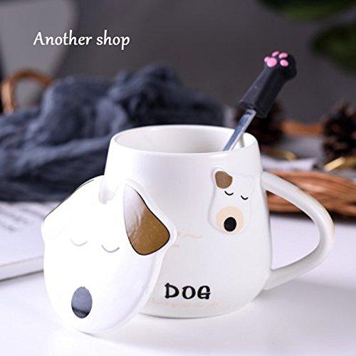 Yomiokla Tazza di ceramica cute cane acqua tazza con...