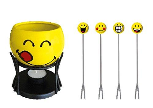 Smiley Emoticon Schokoladen-Fondue in Geschenkbox