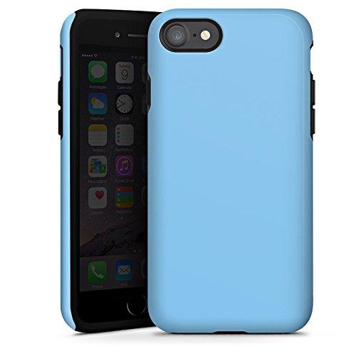 Apple iPhone X Silikon Hülle Case Schutzhülle Eisblau Blau Blue Tough Case glänzend