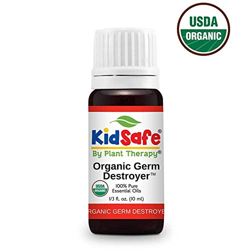 Plant Therapy KidSafe Germ Destroyer Organic Synergy Essential Oil 10 mL (1/3 oz) 100% Pure, Undiluted, Therapeutic Grade