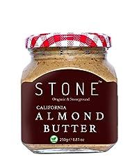 "Stone Keto Vegan All Natural Gourmet Organic Almond Butter (Badam) (Stone Ground), 250gâ""®."