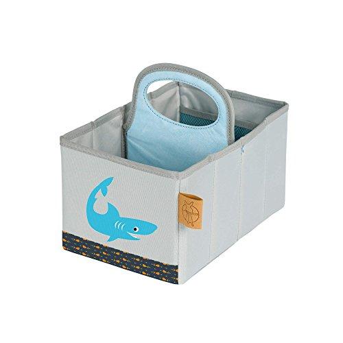 Lässig 1541001427 Wickeltisch Organizer - Nursery Caddy, Shark Ocean