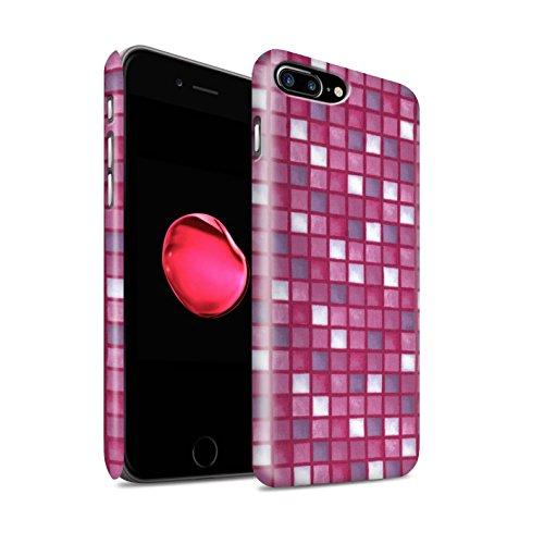 STUFF4 Matte Snap-On Hülle / Case für Apple iPhone 8 Plus / Lila/Grün Muster / Bad Fliesen Kollektion Rosa
