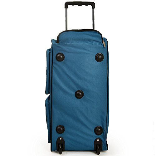 Travel Duffel Bag Size Colour Choice 160L or 100L Blue Orange Red Black Wheeled  Luggage Gym Sport Large ... d79483ec50111