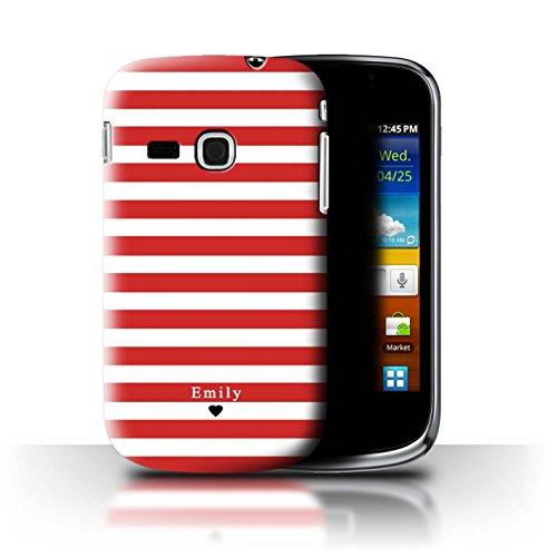 Personalizzato Strisce/Banda Personalizzare Custodia/Cover per Samsung Galaxy Mini 2/S6500 / Cuore Striscia Rossa Design/Iniziale/Nome/Testo Caso/Cassa