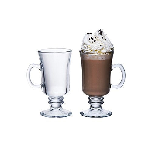 Genware nev-cg-08 Irish Coffee Glas, 23 cl/8 Oz (Pack von 6) Gläser Irish Coffee