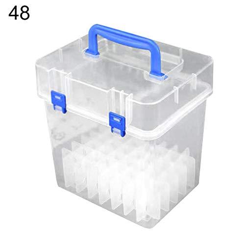 Federmäppchen transparent Marker Stifte Aufbewahrungsbox Container Art Craft Tray Büro Schreibtisch Organizer Home School Students Study Supply 01