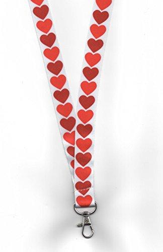 1Königin Der Herzen Valentinstag Geschenk Umhängeband Breakaway Sicherheit. (Wonderland Königin Der Herzen)