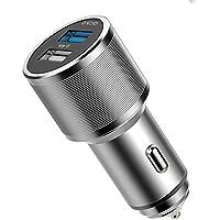 TTMOW Cargador de Coche Doble Puertos con Quick Charge 3.0 FCP y uno Puerto de 2.4A para iPhone 8 / 8 Plus / 7 Samsung Galaxy S8 / Note 8 / S7, LG G5 / G6, HTC 10, Moto G4 y más