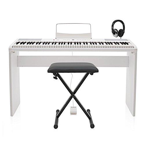 SDP-2 Stage-Piano von Gear4music + Komplettset weiß