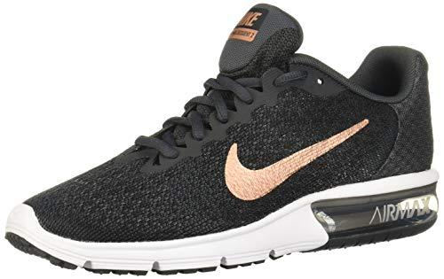 Nike Damen WMNS Air Max Sequent 2 Fitnessschuhe, Mehrfarbig (Anthracite/MTLC Red Bronze/Black/White - Damen Bronze Schuhe Nike