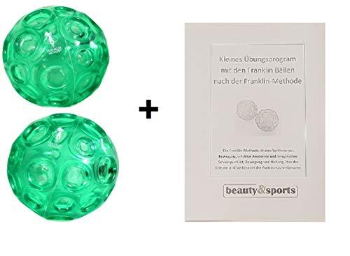 Franklin Original Ball - 2er-Set - mit Übungsbroschüre - der Standart-Ball für Franklinübungen! (Reitsport-reiten-ausrüstung)