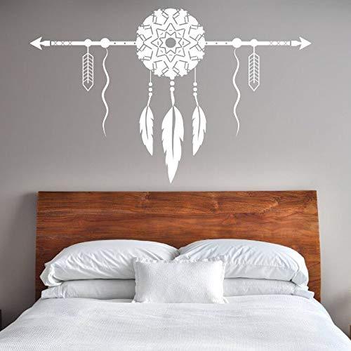 CDNY Dream Catcher Con la etiqueta de la pared de la flecha Decoración del dormitorio Nuevo diseño Dream Catcher Vinilo etiqueta de la pared extraíble Home Wallpaper 120x75cm