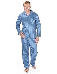 f198b987cf Mens Brushed Pure 100% Cotton Pyjamas Winter Warm Flannel Thermal M L XL XXL