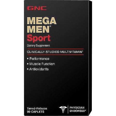 GNC Mega MEN Sport 90 Caplets by GNC (English