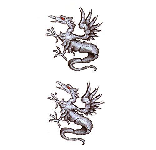 sil Drachen Wasserdicht Temporäre Tätowierung-Blitz-Tätowierung-Aufkleber Harajuku Mann Knochen Dragon Tattoo Fake Tattoo ()