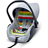 R for Rabbit Picaboo 4 in 1 Multi Purpose Baby Carry Cot,Car Seat, Rocker,Feeding Chair for Infant Babies of 0 to 15 Months & Weight Capacity Upto 13 Kgs(Multi Color Rainbow)