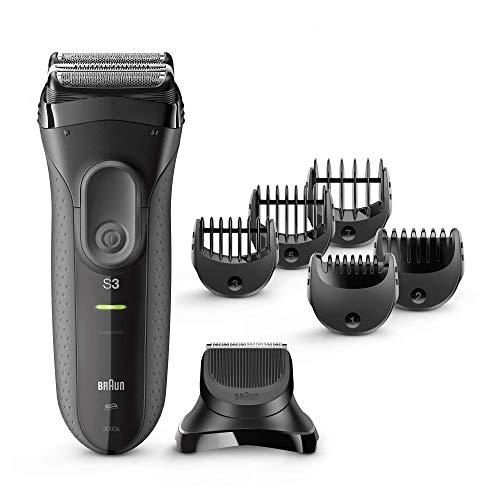 Braun Series 3 Shave & Style 3000 BT 3-in-1-Elektrorasierer für Herren, mit Präzisionstrimmer und 5Kammaufsätzen