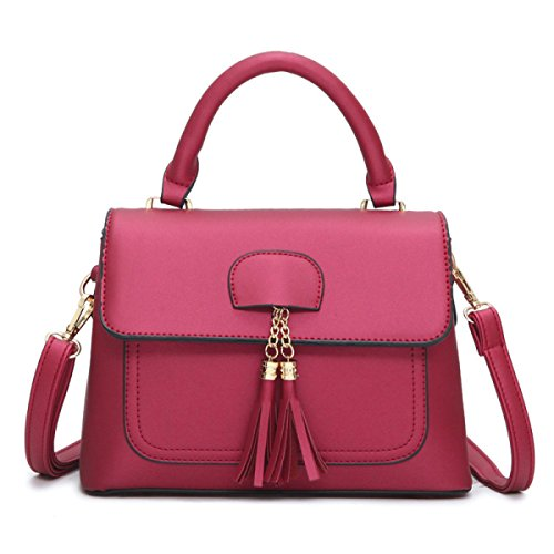 Fashion Frangé Sac à Main De Quatre Couleurs En Option red