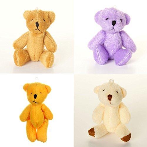 NEW Cute + Cuddly Little ASSORTED Teddy Bears X 8 White Brown Orange Purple
