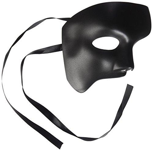 Herren Schwarz Hälfte Maske Blanko Maske Masquerade Maske, Phantom der Oper venezianischen Mardi Gras Venezianische Maske (Sonne Göttin Kostüme)