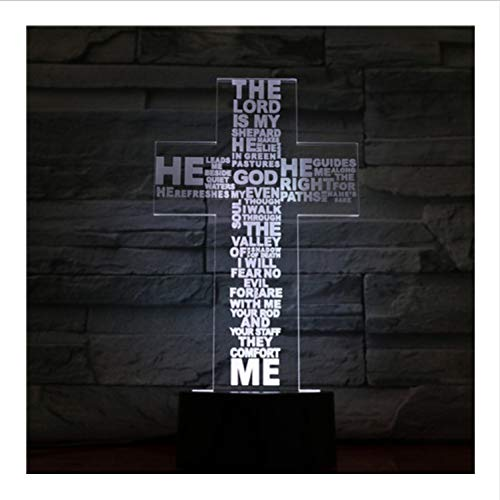 YS753 Croyant chrétien Jésus-Christ en Forme De Croix USB 3D LED Veilleuse Maman Mère Cadeaux Bureau Lampe De Chambre Chambre Neon Veilleuse