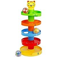 Torre Espiral de Bolas Rolling Ball Circuito de Bolas de Colores con Tobogán en Espiral Juego de Construccion para Bebés