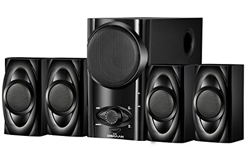 Oshaan L19 4.1 Multimedia Home Theater Speaker with Bluetooth Connectivity, FM, Aux Lead, USB/SD Card Reader, Digital Display, Remote Control
