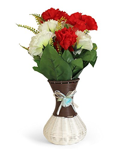 TiedRibbons Flower vases for home decor with Artificial Flower(38 cm X 13...