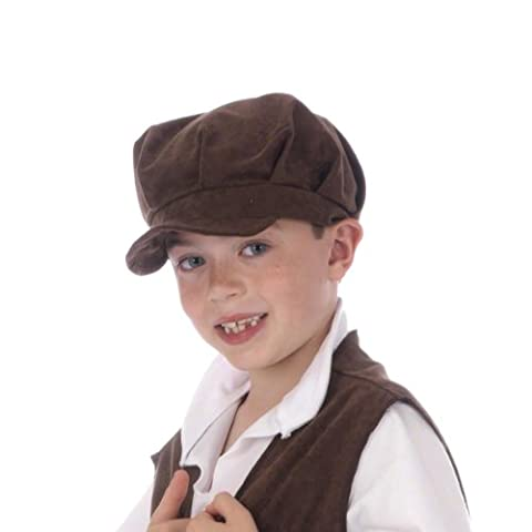 Brown Flat Cap for kids one size fits