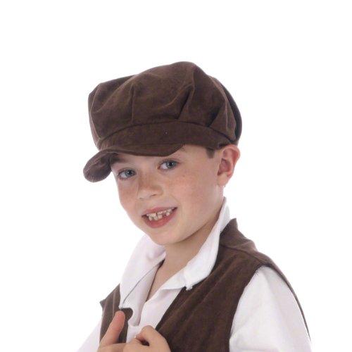 (Braun Viktorianisches Mütze Kostüm für Kinder. Einheitsgröße (3-9 Jahre).)