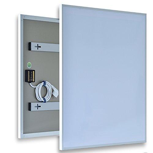 coldfig hting höchststufe 600 * 1200 mm 720 W 2 Meu mâle Blanc Pet Surface Aluminium avec revêtement arrière fernes Panel Chauffage électrique radiateur mural infrarouge