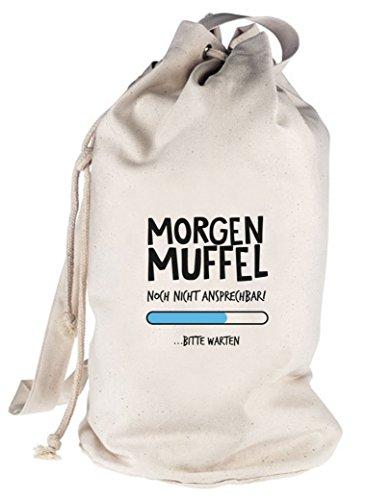 Langschläfer bedruckter Seesack Umhängetasche Beutel Bag Morgenmuffel Natur