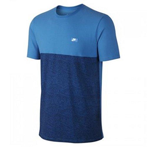 Nike Herren Schuhkartons kurzärmeliges T-Shirt Blau