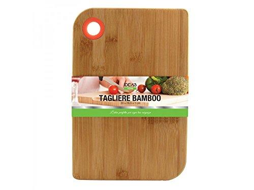 Girm® - hx916278 - tagliere rettangolare in bamboo, dimensioni 20x29.5x1 cm - pezzo singolo - tagliere in legno per salumi, formaggi, verdure et