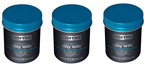 3 X Osmo Clay Wax 100ml Men Hair Styling Grooming Barbers Matte Textured Control