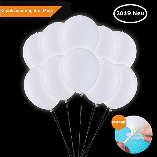 Halloween Kostüm Ideen Mit Weißen Augen - LED Luftballons Weiße, LED Leuchten