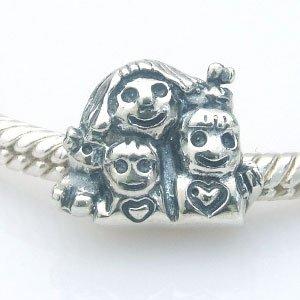 Best Mutter mit Tochter Sohn Charm 925Sterling Silber Familie Bead für europäische Kette Armband für Mütter Tag Geschenke