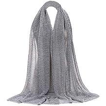 dd1804a3e7c5 Rovinci Mode Femmes Couleur Unie Fil d or Plier de Plein Air Longue Doux  Emballage