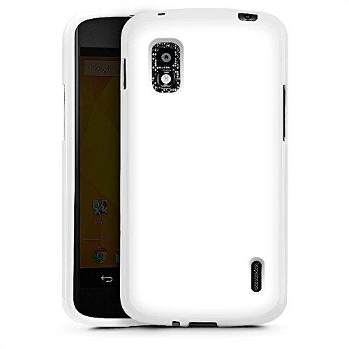 e Silikon Case Schutz Cover Weiß Weiss White ()