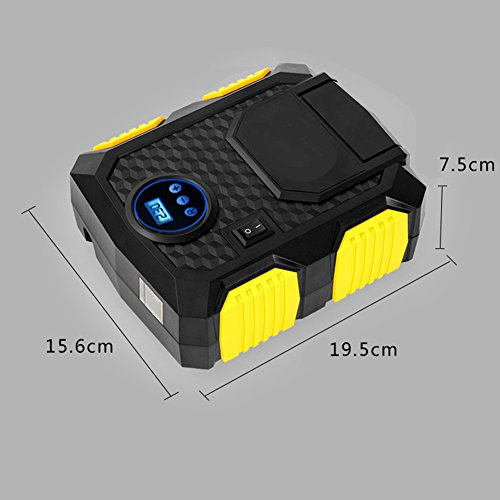YOUANDMI Reifenfüller, Elektrische Mini Tragbare Notfall Reifen Inflation Pumpe, Fahrzeug Luft Pump120 (W),DIGITAL (12v Akku Luft Pumpe)