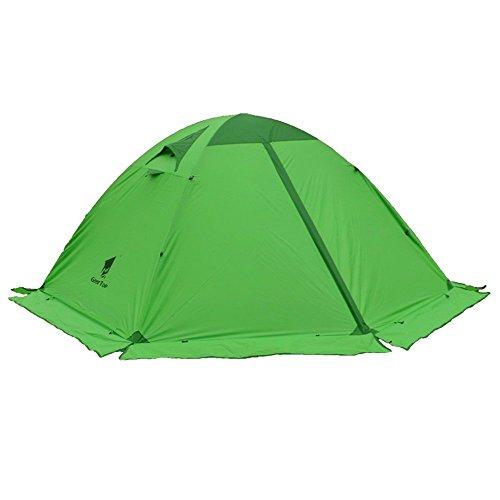 GEERTOP Kuppelzelt Campingzelt Familienzelt Trekkingzelt Aluminiumstangen Wasserdichten - 140 x 210 x 115 cm (2,59kg) - Zwei Personen 4 Jahreszeiten Ideal für Camping Wandern Reisen und Klettern (Grün)
