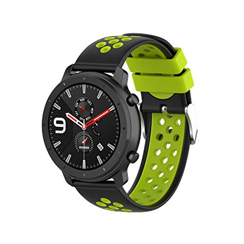 Tabcover for AMAZFIT 2S Cinturino,22mm Soft Silicone Sport Replacement Strap Cinturino for HUAMI Amazfit 2s/HUAMI Amazfit/HUAMI Amazfit Stratos Smart orologio 2