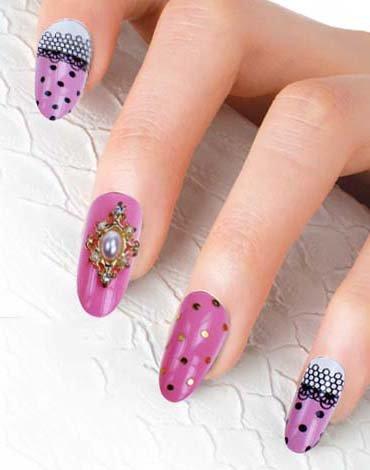 Fake Nails French Manicurer Full Warp 0050-3D-15 Nail Sticker Tattoo - FashionLife