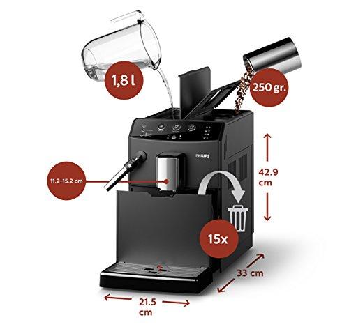 Philips 3000 Serie HD8827/01 Kaffeevollautomat (1850 W, klassischer Milchaufschäumer) schwarz - 6