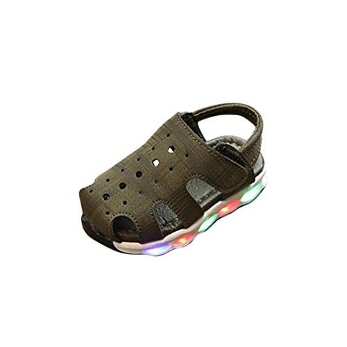 Scarpe da sneaker luce luminosa casuale sandali scarpe per bambino&bambina unisex -led scarpe high-maglia led scarpe da ginnastica sportive da tennis shoes -bambine (esercito verde, eu:23)