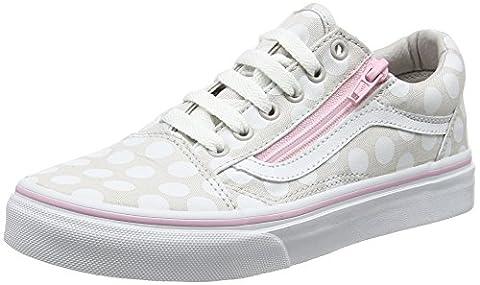 Vans Uy Old Skool Zip, Baskets Basses Fille, Gris (Polka Dot Wind Chime/Pink Lady), 35 EU