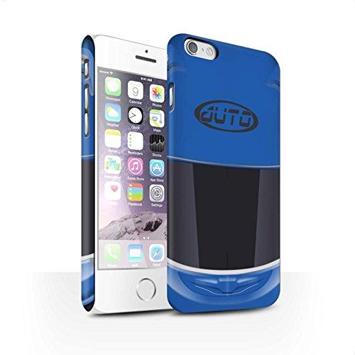 STUFF4 Matte Snap-On Hülle / Case für Apple iPhone 7 Plus / Superbike/Rosa Muster / Motorradhelm Kollektion Superbike/Blau