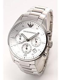 Emporio Armani - Reloj de pulsera mujer, acero inoxidable, color plateado